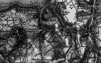 Old map of St Agnes in 1895