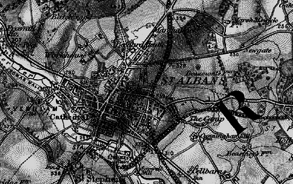 Old map of St Albans in 1896