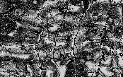 Old map of St Allen in 1895