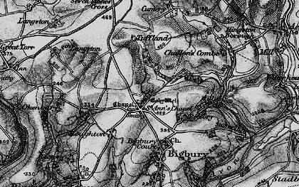 Old map of St Ann's Chapel in 1897