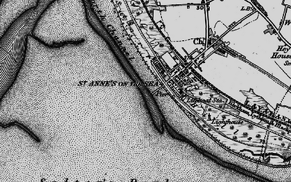 Old map of St Annes in 1896