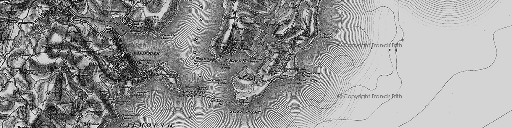 Old map of St Anthony in 1895