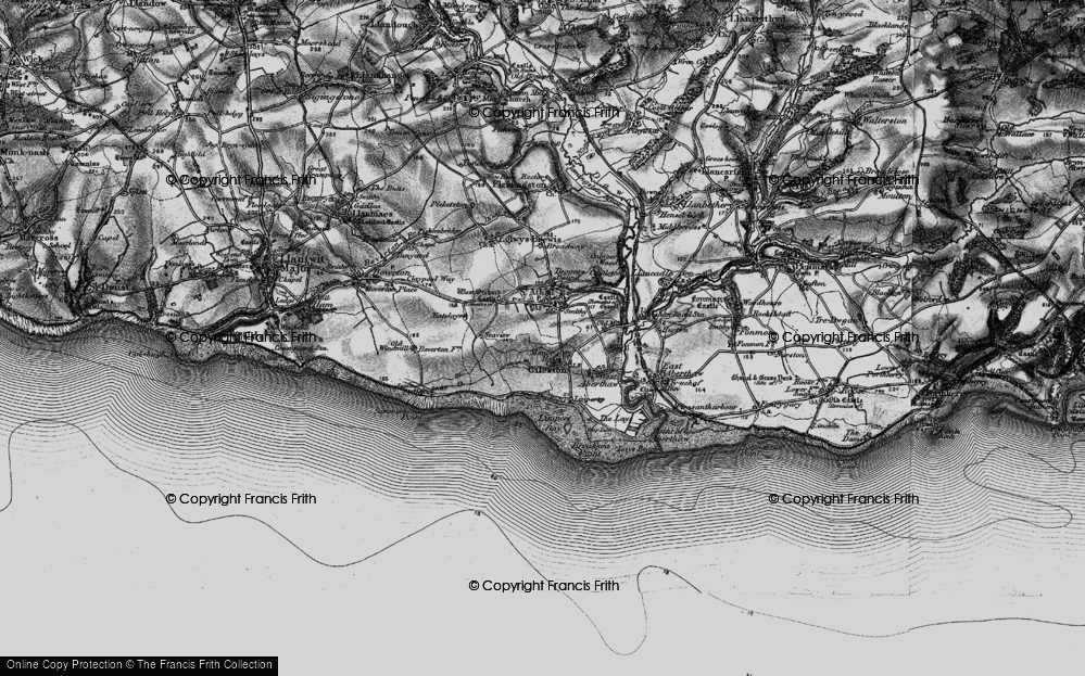 Old Map of St Athan, 1897 in 1897
