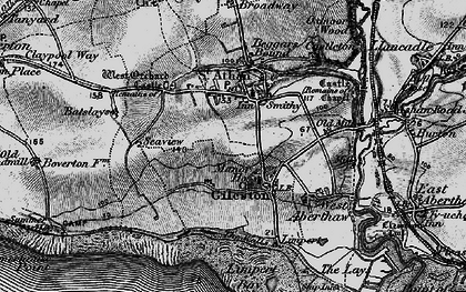 Old map of St Athan in 1897
