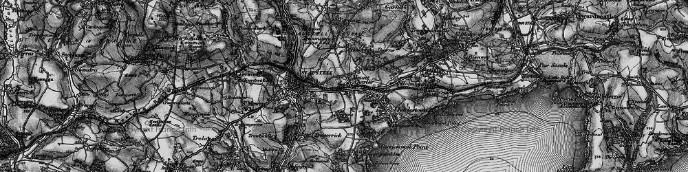 Old map of St Austell in 1895