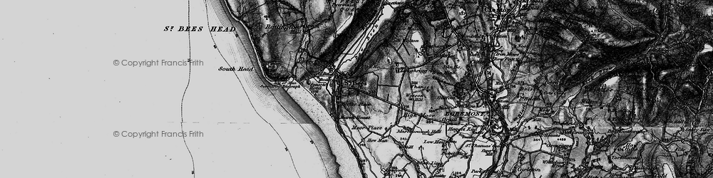 Old map of St Bees in 1897