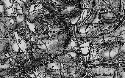Old map of St Blazey in 1895