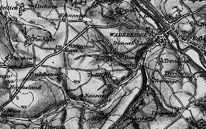 Old map of St Breock in 1895
