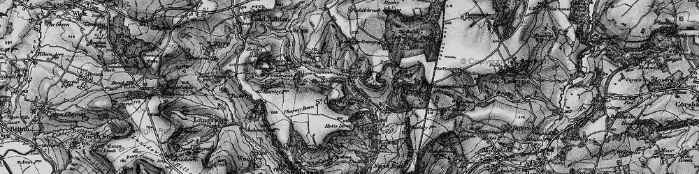 Old map of St Catherine in 1898