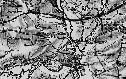 Old map of St Clears in 1898