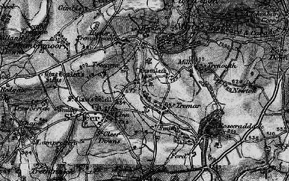 Old map of St Cleer in 1895
