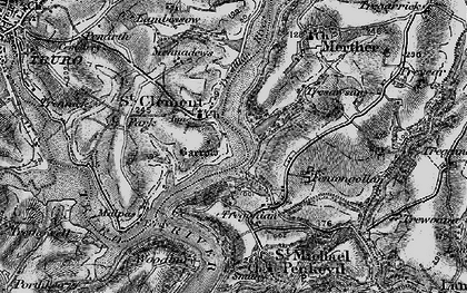 Old map of St Clement in 1895