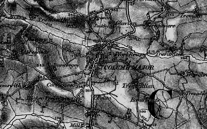 Old map of St Columb Major in 1895