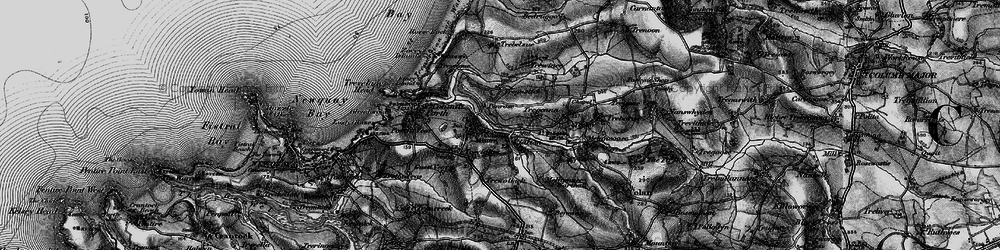 Old map of St Columb Minor in 1895