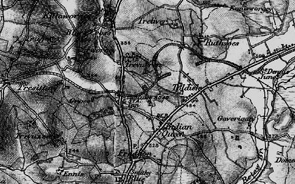 Old map of St Columb Road in 1895