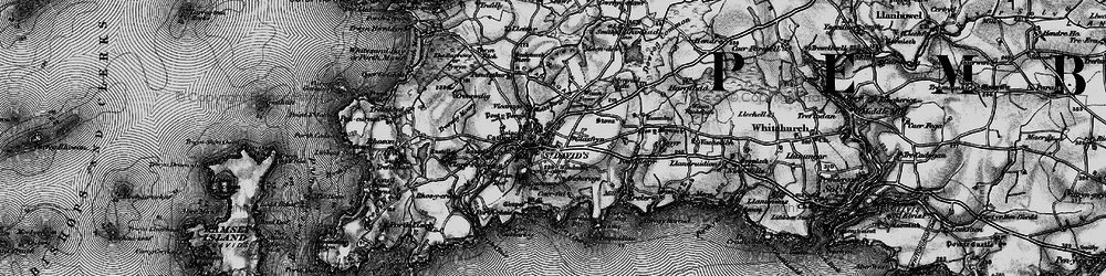 Old map of St Davids in 1898