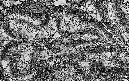 Old map of Tolgullow in 1895