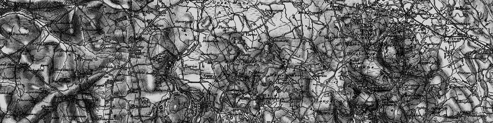 Old map of St Dennis in 1895