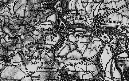 Old map of St Dogmaels in 1898
