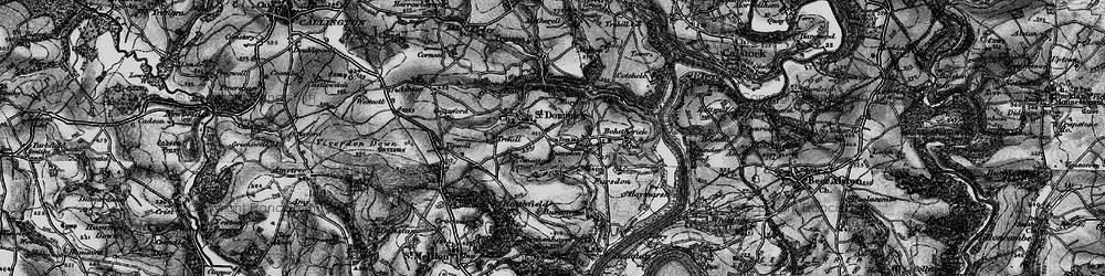 Old map of Burraton in 1896