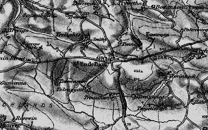 Old map of St Endellion in 1895