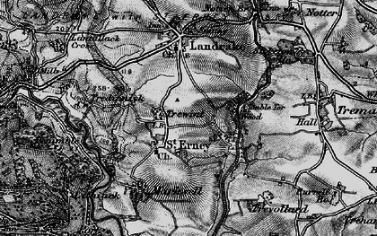Old map of St Erney in 1896