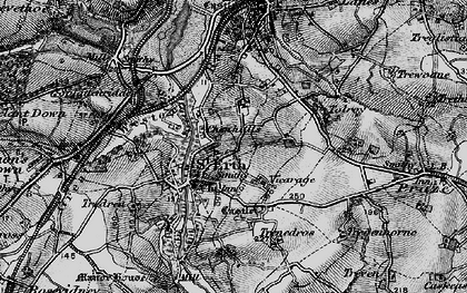 Old map of St Erth in 1896