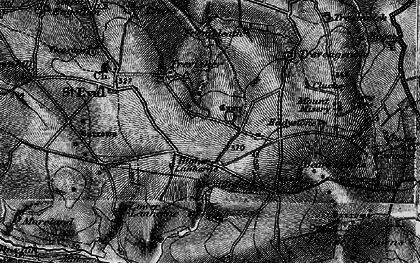 Old map of St Eval in 1895