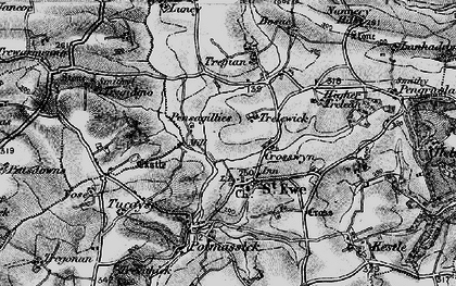 Old map of St Ewe in 1895