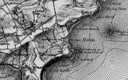 Old map of St Goran in 1895