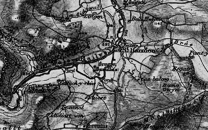 Old map of Banc Gelli-las in 1898