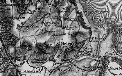 Old map of Whitefield Wood in 1895