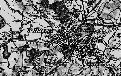 Old map of St Helens in 1896