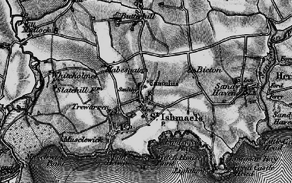 Old map of St Ishmael's in 1898