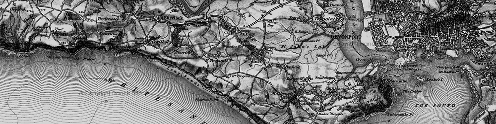 Old map of Withnoe Barton Fm in 1896