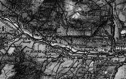 Old map of St John's Chapel in 1897