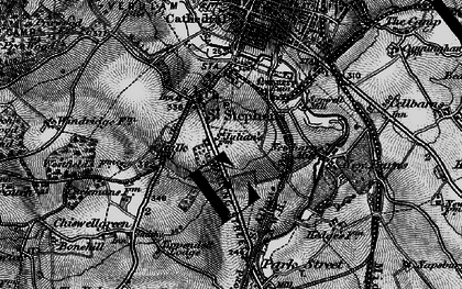 Old map of St Julians in 1896