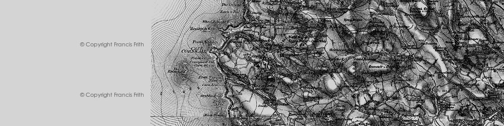 Old map of St Just in 1895