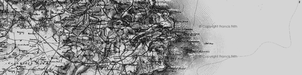 Old map of St Keverne in 1895