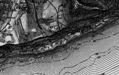 Old map of St Lawrence in 1895