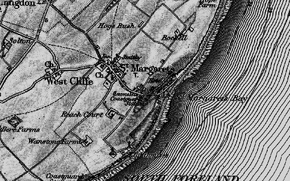 Old map of St Margaret's at Cliffe in 1895