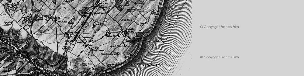 Old map of St Margaret's Bay in 1895