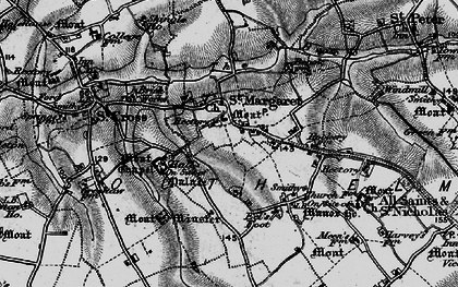 Old map of St Margaret South Elmham in 1898