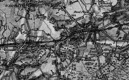 Old map of St Mary's Platt in 1895