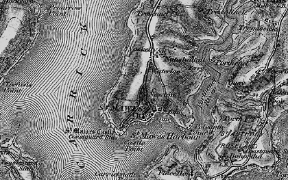 Old map of St Mawes in 1895