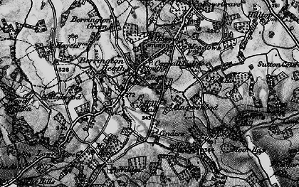 Old map of Wilden in 1899