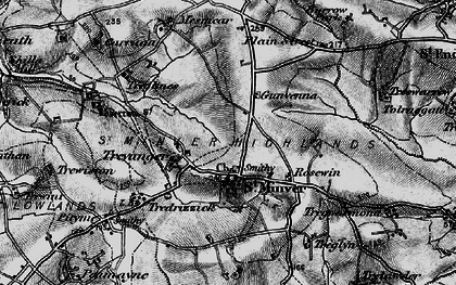 Old map of St Minver in 1895