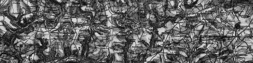 Old map of St Neot in 1895
