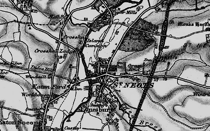 Old map of St Neots in 1898