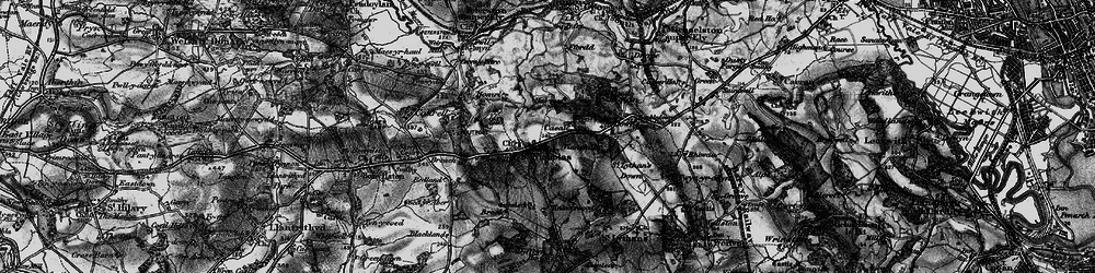 Old map of Tinkinswood in 1897